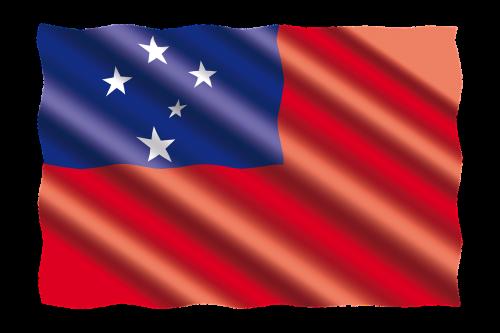 tarptautinis,vėliava,samoa