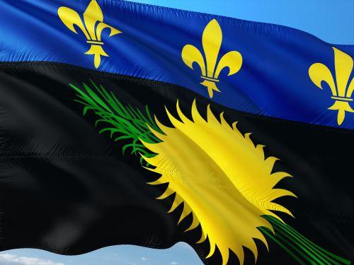 tarptautinis,vėliava,Gvadelupa,gwada,departamentas,france,mažos antilės,karibai