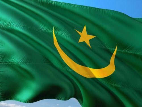 tarptautinis,vėliava,Mauritanija,šiaurės vakarų afrika,атлантический