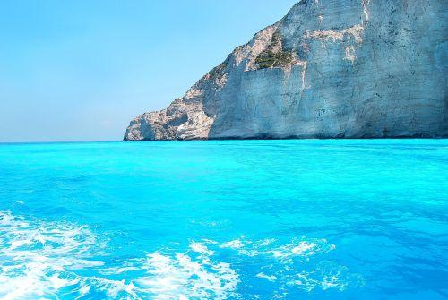 joninė jūra,spalva mėlyna,Viduržemio jūra,nuolaužas,banga,Rokas,vasara,turizmas,Viduržemio jūros klimatas,kelionė,šventė,atostogos,atsipalaidavimas,turizmo atrakcionai,sala,Zakynthos,Graikija,Viduržemio jūros,saulė,gamta,peržiūrėti atviruką