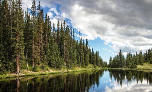 Irene ežeras,ežeras irenas,Bergsee,Waldsee,roko kalnų nacionalinis parkas,Nacionalinis parkas,usa,gamtos parkas,Colorado,Jungtinės Valstijos,Šiaurės Amerika,veidrodis,debesys,amerikietis,gamta