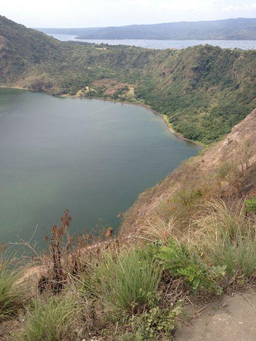sala,vulkanas,krateris,ežeras,vaizdas,vulkaninis,kalnas,pritraukimas,Rokas,vaizdingas,ratlankis,turizmas,Filipinai