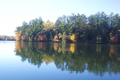 kritimas, apmąstymai, ežeras, salos kritimo apmąstymai