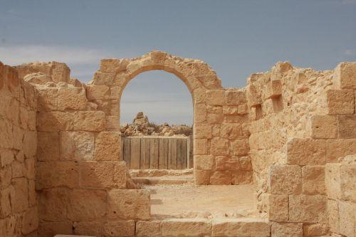 Izraelis, Avdat, Vartai, Tikslas, Negev, Smiltainis, Griuvėsiai