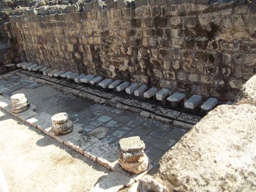 Izraelis, senovės, vonios kambariai, archeologiniai, senas, griuvėsiai, istorinis, architektūra, lažybos, latrine, struktūra