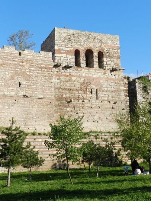 istanbulas,sienos,ayvansaray,on,ottoman