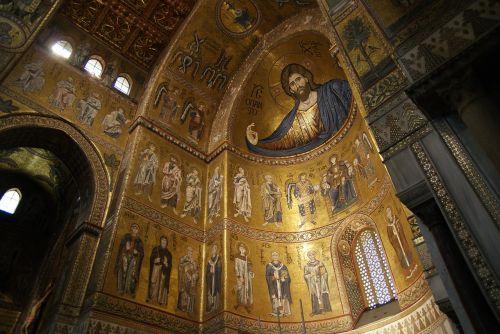 Italia,italy,sicilija,sicilija,monrealis,bažnyčia,katedra,katedra,krikščionis,mozaika,romanizmas,romanizmas