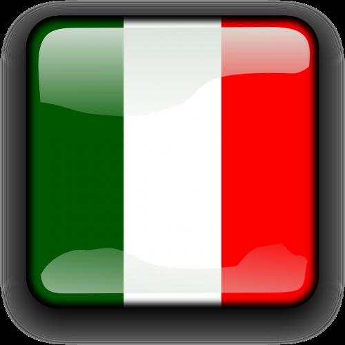 italy,vėliava,Šalis,Tautybė,kvadratas,mygtukas,blizgus,nemokama vektorinė grafika