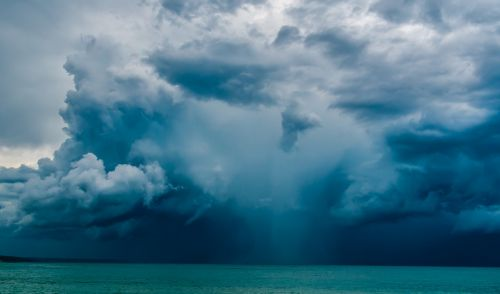 italy,gewitterstimmung,jūra,debesys,lietingą