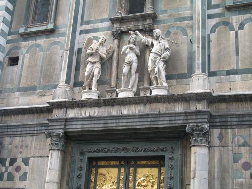 italy, Florencija, Jėzus, angelai, statulos, italija florence jesus angelų statulos