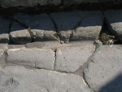 italy, pompėja, vagonas & nbsp, takelis, italy pompeii wagon track