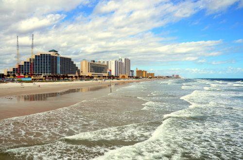 Džeksonvilis & nbsp, paplūdimys, florida, jūros dugnas, vaizdingas, papludimys, vandenynas, bangos, smėlis, druska & nbsp, vanduo, turizmas, kelionė, Jacksonville paplūdimys, florida