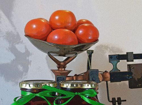 skalė, pomidorai, sverti, džemas, buteliai, dangteliai, juostelės, saugo, pagaminti, naminis, džemas su pomidorais masto