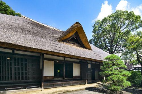 Japonija,kaimo namai,seni namai,namai,Tokyo,medinis,tradicija,pastatas,ūkininkas,Šiaudinis stogas