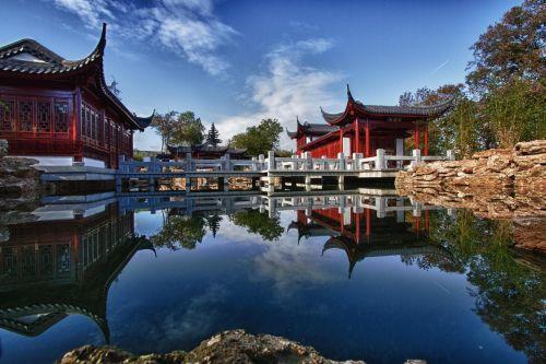 japoniškas sodas,tvenkinys,atsipalaidavimas,koi,asija,žuvų tvenkinys