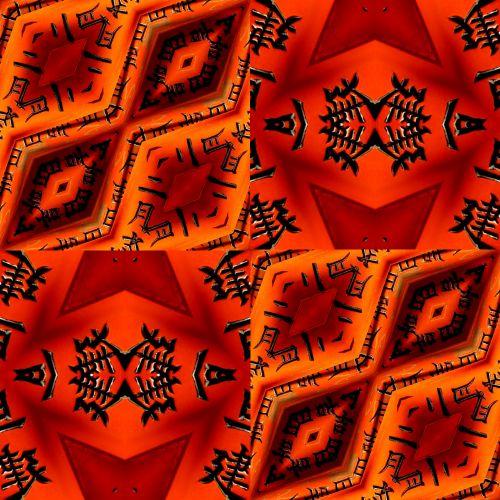 dizainas, ruduo, Halloween, fonas, popierius, Scrapbooking, modeliai, raudona, oranžinė, Japonija, japanese, personažai, Japonija - 3