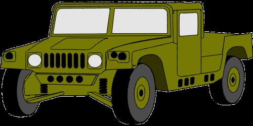 Jeep,automobilis,Hummeras,transporto priemonė,armija,kariuomenė,vairuoti,keturių ratų pavara,gabenimas,transportas,nemokama vektorinė grafika