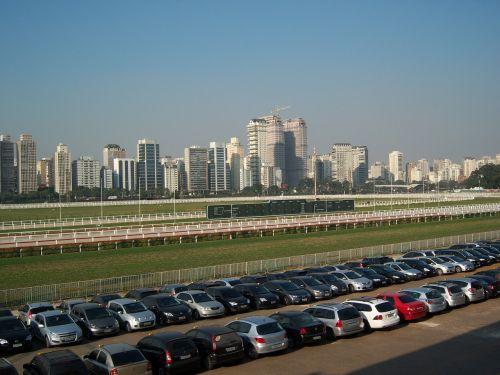jockey club,sao paulo panorama,automobilių stovėjimo aikštelė,išsinuomoti automobilį,lenktynių trasa,jóckey