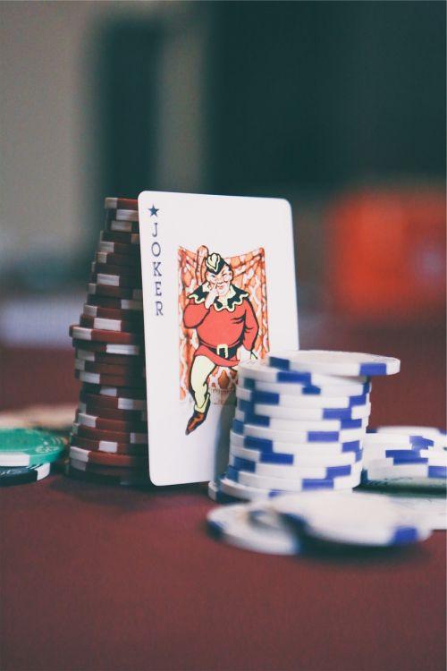 Jokeris,kortelės,pokeris,lustai
