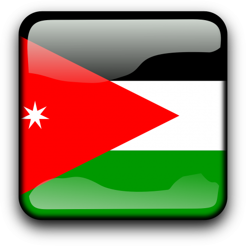 jordan,vėliava,Šalis,Tautybė,kvadratas,mygtukas,blizgus,nemokama vektorinė grafika