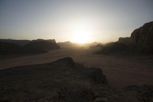 Jordan, Wadi Rum, Šventė, Artimieji Rytai, Dykuma, Pasaulinis Paveldas, Saulėlydis
