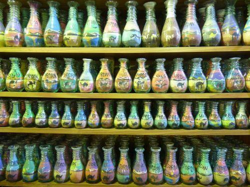 jordan,amanas,šventė,kelionė,Artimieji Rytai,stiklinis butelis,smėlio tapyba