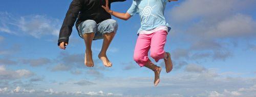 šokinėti,dangus,vaikas