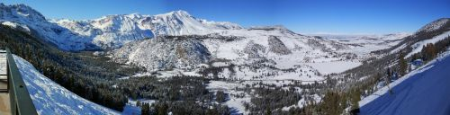 sniegas, žiema, kraštovaizdis, slidinėjimas, Kalifornija, birželio ežero slėnis, Kalifornija, Usa