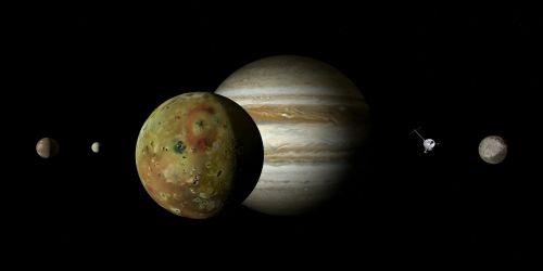 jupiteris,io,jupiteris mėnulis,mėnulis,Galileischer mėnulis,keturi dideli Galilėjos mėnuliai,Galileo,jupiterio sistema,dujų variklis,dydžio sąlygos,rutuliai,dydžio santykis,harmonija,plūdė,saulės sistema,planeta,penktoji planeta,kosmoso kelionės,kosminis skrydis,zondas,misija,kosmoso zondas,suvokti,tyrimai,technologija,erdvė,astronomija,astrologija,šviesa,šešėlis,kontrastas