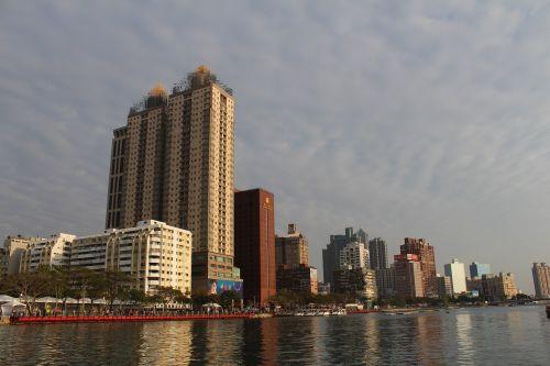 Kaohsiung,Taivanas,asija,upė,miesto panorama,architektūra,palei upę