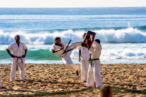 karatė,Sportas,papludimys,žmonės,vandenynas