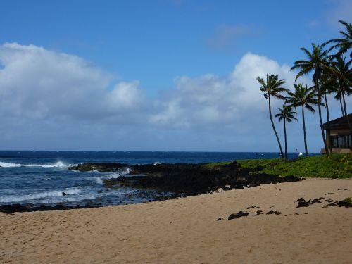 kauai,vandenynas,Hawaii beach,sala,papludimys,Hawaii,vasara,jūra,smėlis,vanduo,atogrąžų