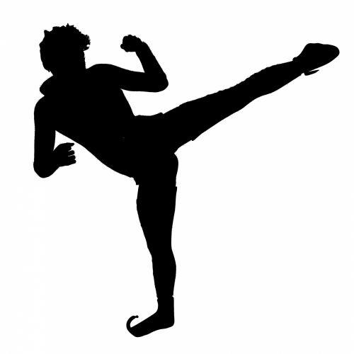 juoda, vyras, siluetas, praktika, praktikuojantis, kikboksas, izoliuotas, balta, fonas, kovoti, karatė, karys, juokinga, avalynė, tatuiruotė, figūra, kontūrai, kikboksas