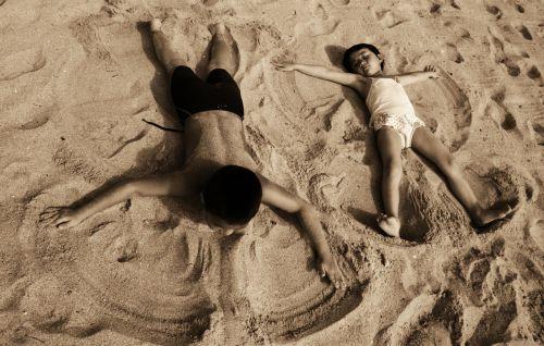 vaikai,papludimys,angelai,angelas,nuostabus paplūdimys,smėlio paplūdimys