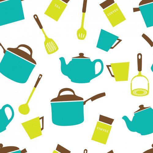 virtuvė, indai, indai, indai, virimo, modelis, besiūliai, tapetai, popierius, fonas, menas, dizainas, iliustracija, taurė, puodelis, arbata, puodą, arbata, kava, jar, Scrapbooking, Laisvas, viešasis & nbsp, domenas, virtuvės indai indai tapetai