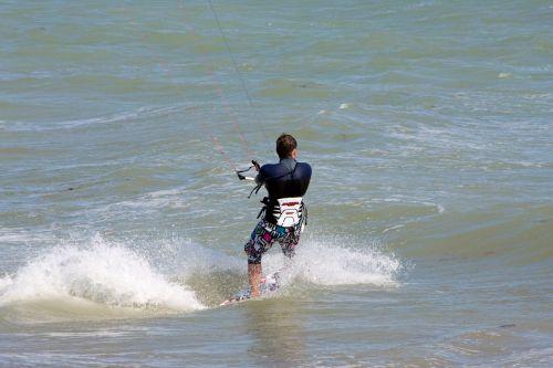 aitvaras & nbsp, surfer, kite & nbsp, naršymas, surfer, banglenčių sportas, jūra, vandenynas, vanduo, Sportas, linksma, Kite surfer
