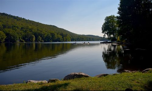 Kittatinny ežeras,Naujasis Džersis,kaimas,vanduo,kanojos,Džersis,naujas,gamta,ežeras,lauke,žalias,kraštovaizdis,natūralus,sezonas,spalvinga,amerikietis,vasara,valtis