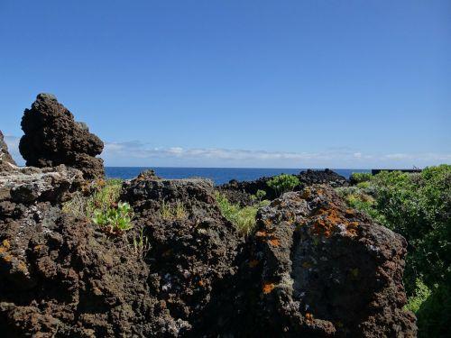 la palma,Kanarų sala,vulkaninis uolas,Rokas,jūra,kraštovaizdis