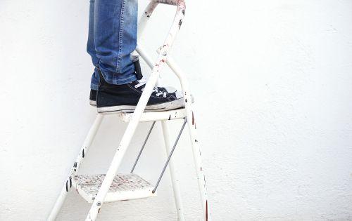 kopėčios,dailininkas,dažyti,darbuotojas,baltas fonas,Pasidaryk pats