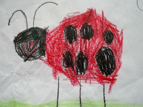 Boružė,vabalas,vaikų piešimas,laimingas berniukas,piešimas,gyvūnas,charakterio raida,vabzdys,sėkmė,vaikas,vaikai,darželis,dažyti,dažytos
