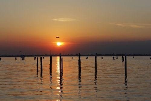 Venecijos marios,Burano sala,saulėlydis