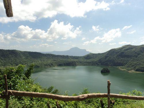ežeras, taal & nbsp, ežeras, vaizdas, gamta, vanduo, medžiai, lapai, Filipinai, žolė, ežeras