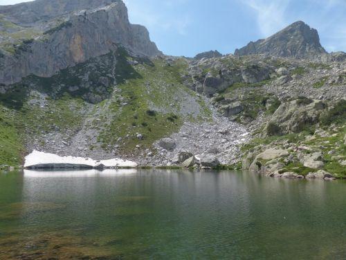 Ežeras, Bergsee, Alpių, Jūrų Alpės, Vanduo, Lago Degli Alberghi, Monte Frisson, Monte Ciamoussè, Monte Ciamousse