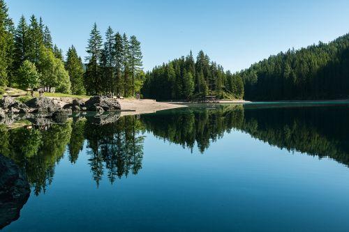 ežeras,Bergsee,gamta,kalninis ežeras,dolomitai,Alpių,vandens kalnai,mėlynas,vasara,tapetai,hd tapetai,gamtos tapetai