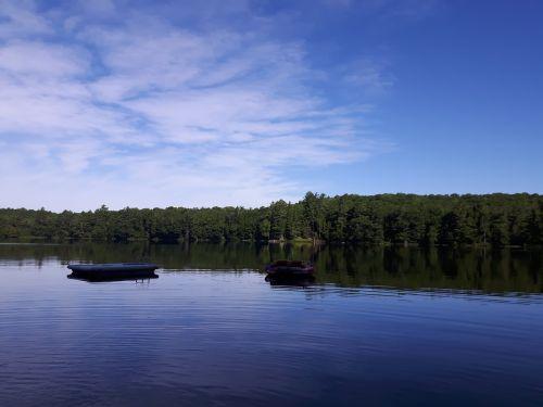 Ežeras, Vandens Žaislai, Vanduo Su Medžiu, Vanduo Su Doku, Prieplauka, Vanduo, Dangus, Medžiai
