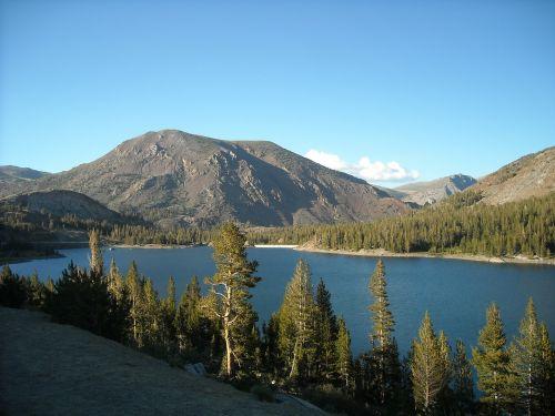 ežeras,kalnai,josemitas,Kalifornija,josemito nacionalinis parkas,Nacionalinis parkas,medžiai,kraštovaizdis,vanduo