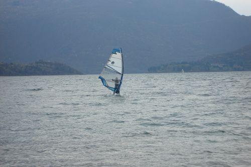 ežeras, vanduo, vėjas, gamta, como, ežero como, burlenčių sportas, italija