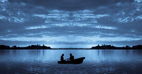 valtis, jūra, banga, kartu, ežeras, mėnulis & nbsp, šviesa, vanduo, gražus, dangus, debesys, mėlynas, gamta, ramybė, sirrealis, apmąstymai, tamsi, ežero mėnulio šviesa