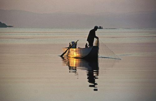 trasimeno ežeras,trasimeno ežeras,lago trasimeno,umbria,vanduo,ežeras,boot,fischer,žvejybos tinklas,žvejyba,morgenstimmung,auksas,skenuoti kb dia