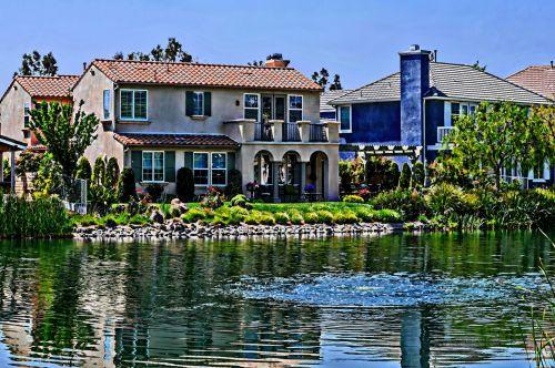 ežeras, namai, gyvenimo būdas, vanduo, namai, ežerai, ežero kranto namai